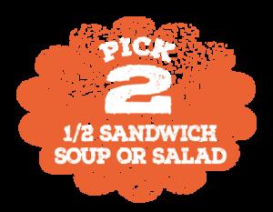 Pick 2 items